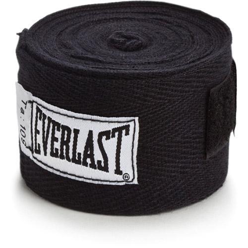 Kit  Everlast Bandagem 108 inches Preta Protetor Bucal Simples Branco Luva Elite Pro Style 12oz Preta