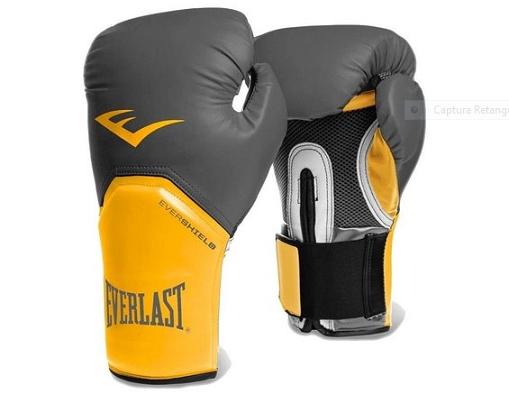 Luva Boxe Everlast pro Style Elite Training 12 Oz Amarela com Cinza