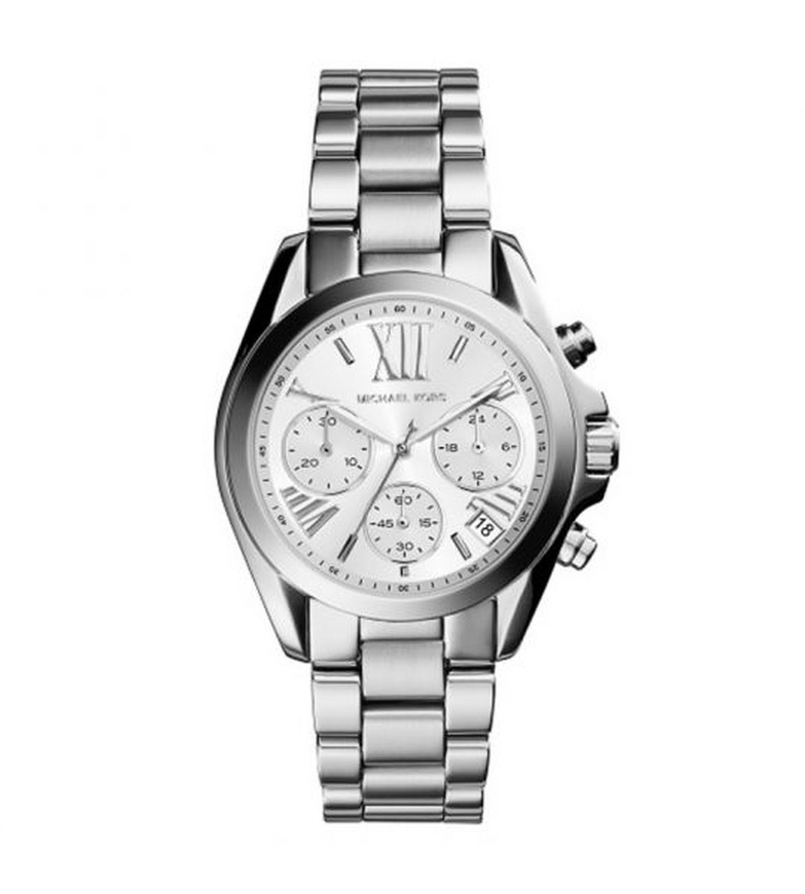 Relógio Michael Kors Bradshaw  Feminino mk6174/1kn Cronógrafo Prata