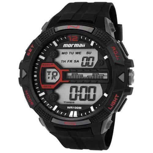 Relógio Mormaii Mo5000/8p Masculino Esportivo Digital Preto com Vermelho