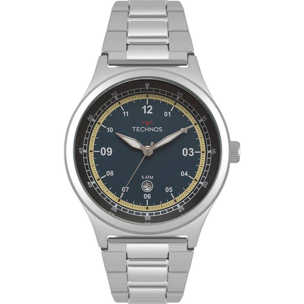 Relógio Technos Masculino Militar 2115mqx/1a Prata