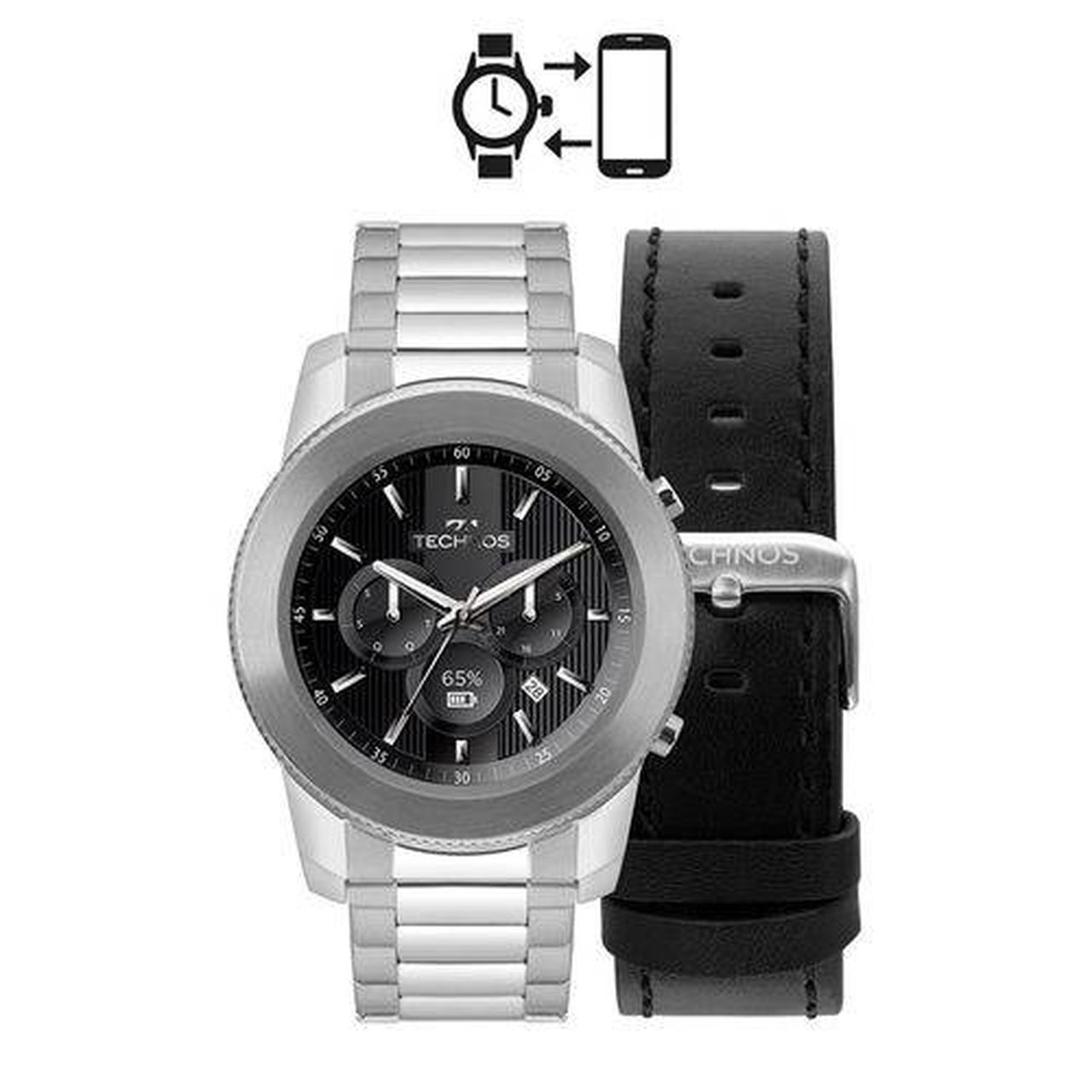 Relógio Technos Smartwatch Performance Connect M1aa/1p Prata