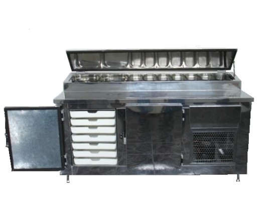 Balcão Refrigerador para Cubas 1 Nível