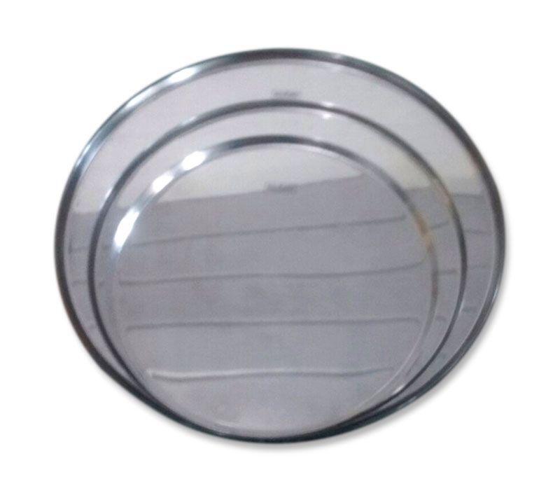 Kit com 3 Formas de Aço Inox 25, 30 e 35 cm