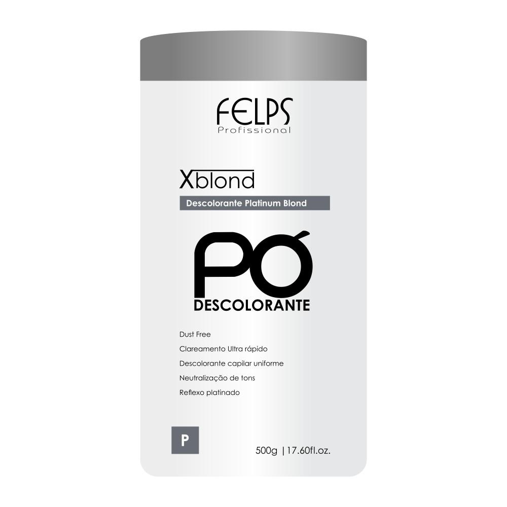 Felps Profissional Xblond Pó Descolorante Platinum Blond 500g