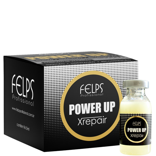 Felps Profissional Xrepair Complexo de Vitamina Ampola Power Up 9x15ml