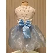 Vestido Frozen Inspired LUXO FANTASIA