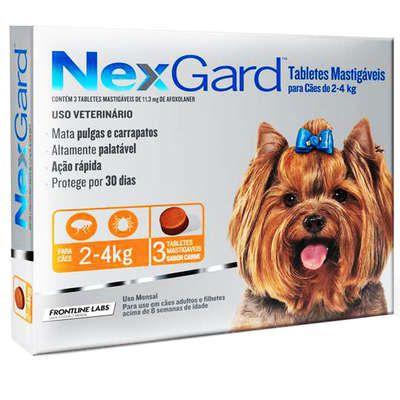 Antipulgas e Carrapatos Merial NexGard 11,3 mg para Cães de 2 a 4 Kg (cada)