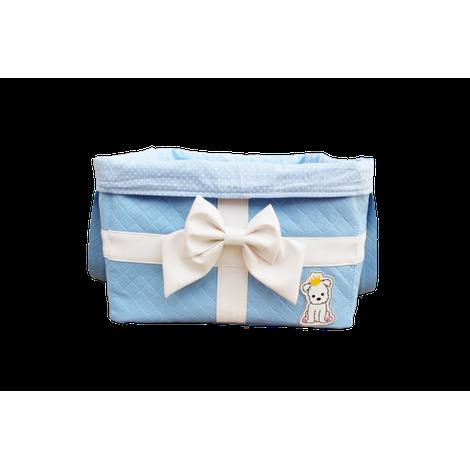 Bag Brinquedo Laço Azul Bebe Sintetica