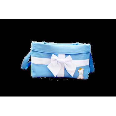 Bag Brinquedo Laço Azul Tecido