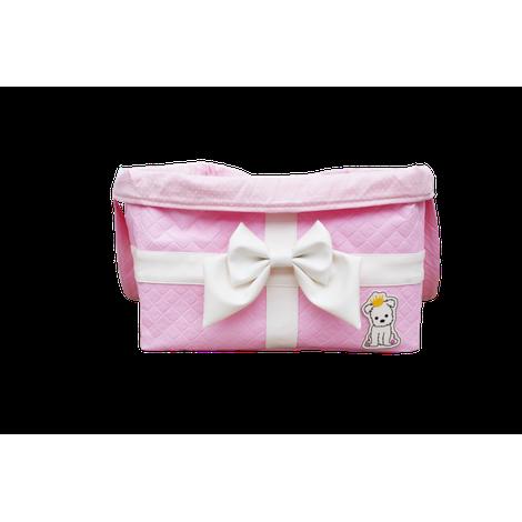 Bag Brinquedo Laço Rosa Bebe Sintetica