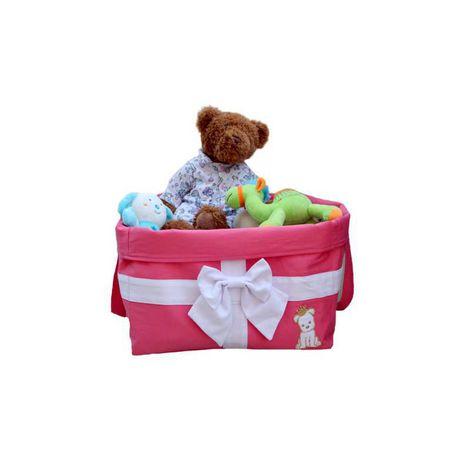 Bag Brinquedo Laço Rosa Tecido