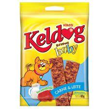 Bifinho Kelco Keldog Baby Carne e Leite - 65 g  - Shoppinho Animal
