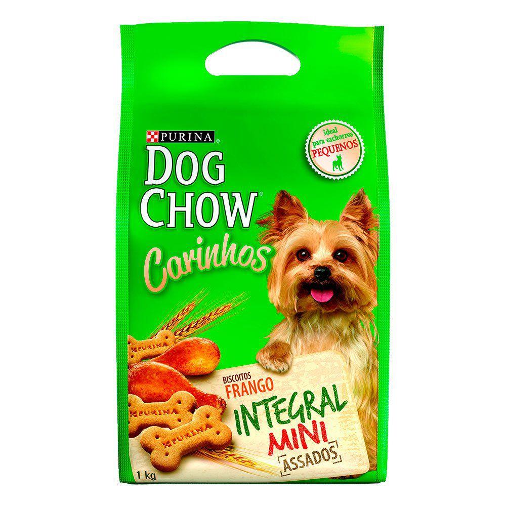 Biscoito Dog Chow Carinhos Raças Pequenas Integral sabor Frango 1 Kg