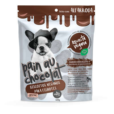 Biscoitos Veganos The French Co. Pain Au Chocolat Gourmet para Filhotes