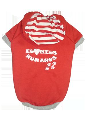 BLUSA DE MOLETOM AMO HUMANOS  - Shoppinho Animal