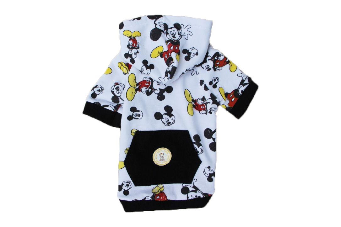 BLUSA DE MOLETOM MICKEY BRANCA COM TOUCA  - Shoppinho Animal