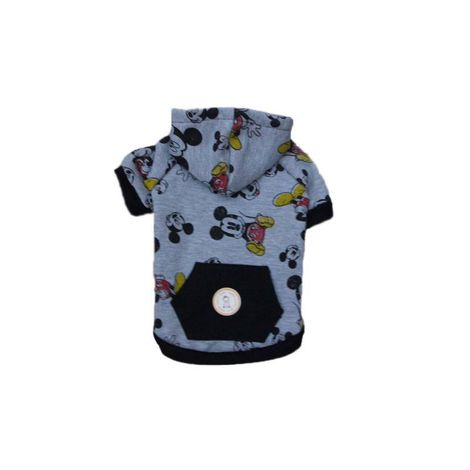 BLUSA DE MOLETOM MICKEY CINZA COLORS COM TOUCA