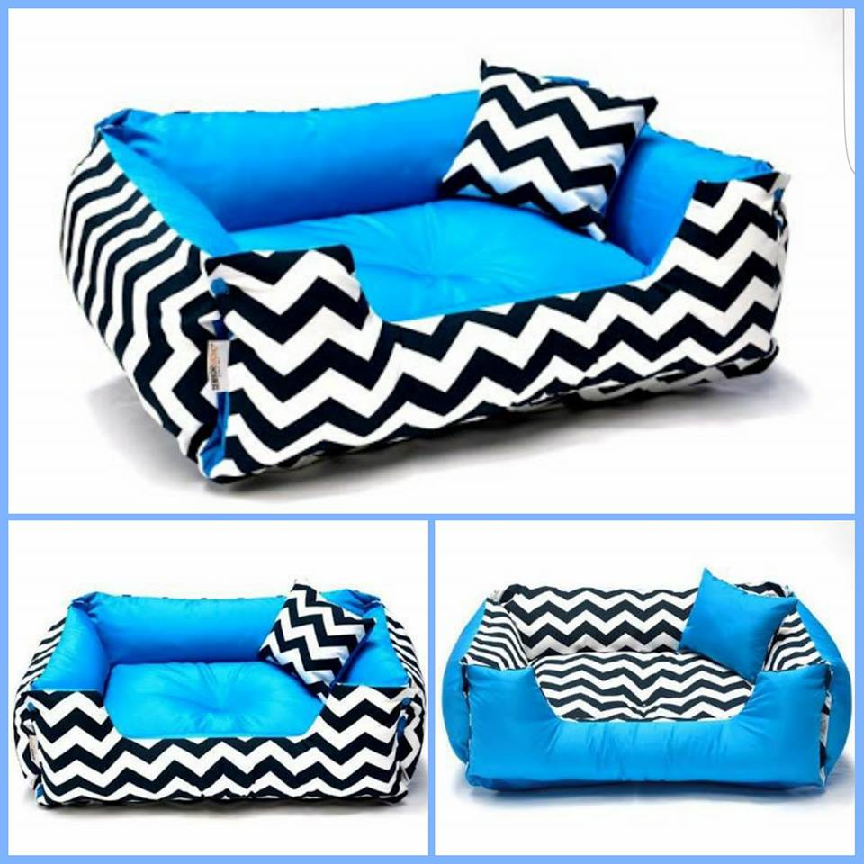 Cama DUPLA FACE Chevron= P - Shoppinho Animal