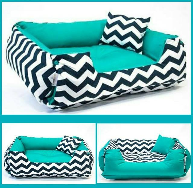 Cama DUPLA FACE Chevron= M  - Shoppinho Animal