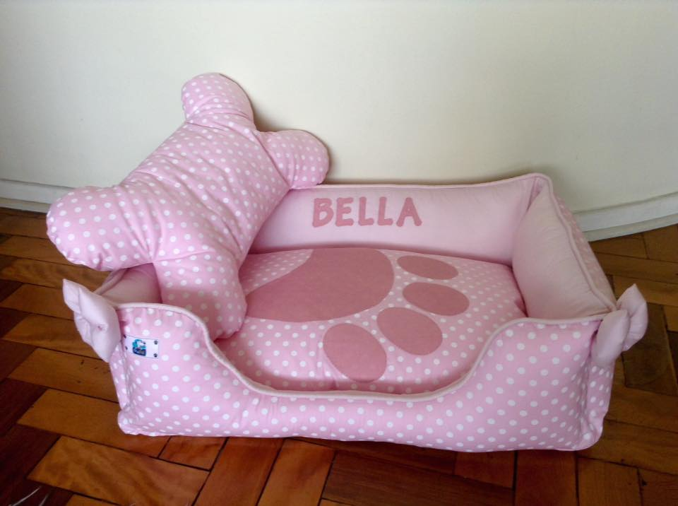 CAMA ROSA - PERSONALIZADA  - Shoppinho Animal