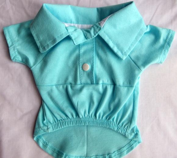 Camisa Polo- Azul Bebê