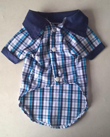 Camisa Xadrez- Azul  - Shoppinho Animal