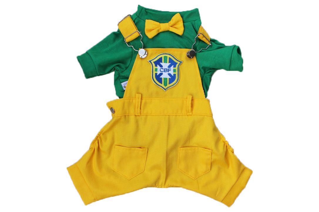 JARDINEIRA MACACÃO BRASIL- COPA  - Shoppinho Animal