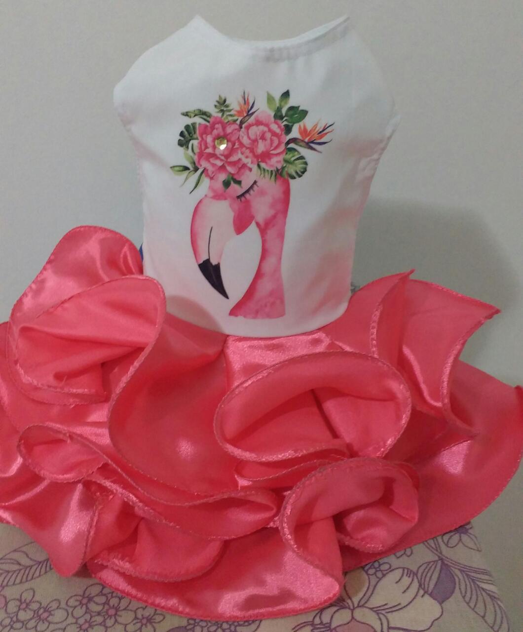 Fantasia Flamingo Shoppinho Animal Roupas E Acessoros Para Caes E Gatos