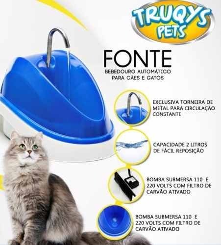 Fonte Bebedouro para Gatos e Cães Truqys - 110V  - Shoppinho Animal