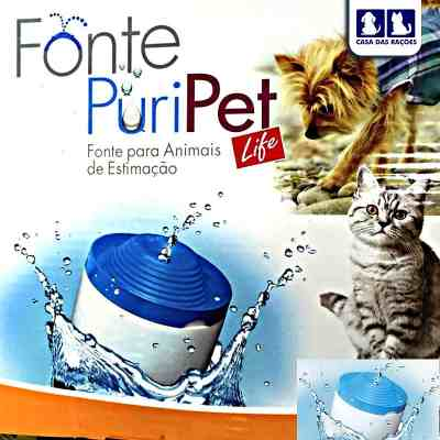 Fonte Bebedouro Pet Injet Puripet 2 Litros   - Shoppinho Animal