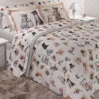 bbd1dc8466 JOGO DE CAMA GATOS - Shoppinho Animal