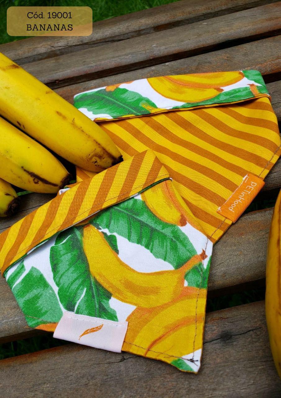 Kit bandana banana dupla face