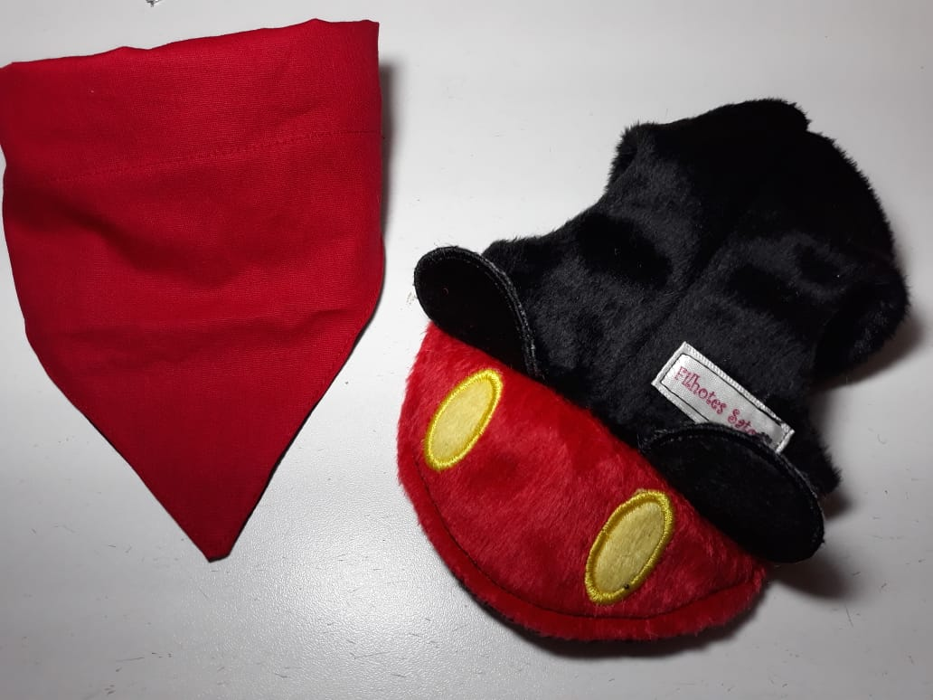 kit bandana + boné Mickey