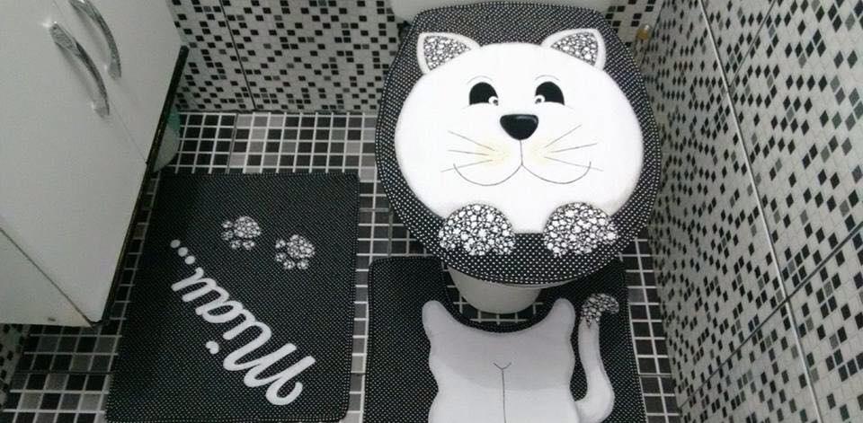Kit de Banheiro- Gatinho