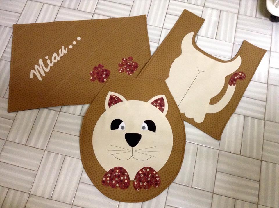 Kit de Banheiro- Gatinho  - Shoppinho Animal