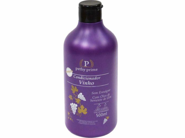kit shampoo e condicionador pethy prime vinho