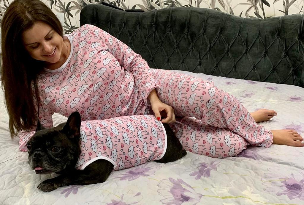 Kit Tal Família, Tal Pet (Diversas Estampas)= 1Pet + 1Adulto Feminina + 1Adulto Masculina + 1Criança