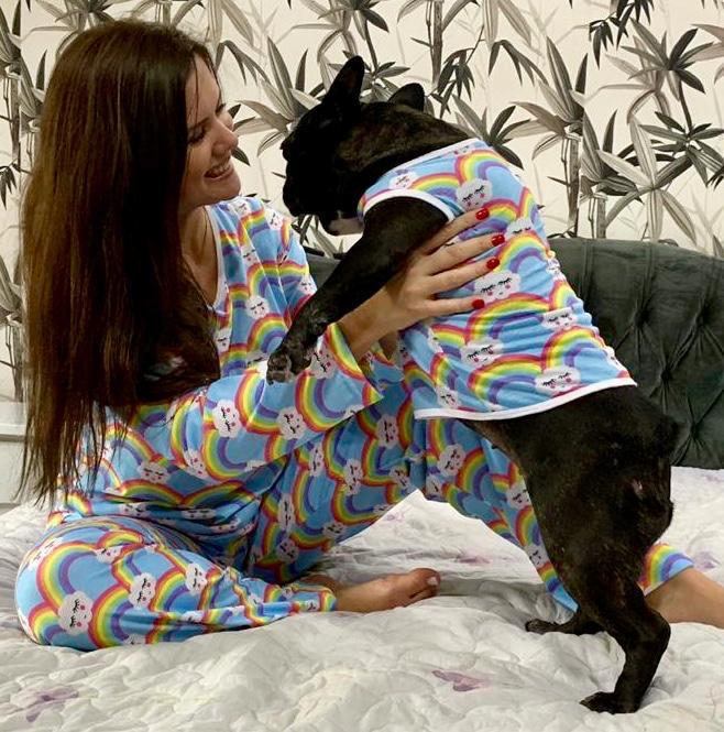 Kit Tal Família, Tal Pet (Diversas Estampas)= 1Pet + 1Adulto Feminina + 1Criança