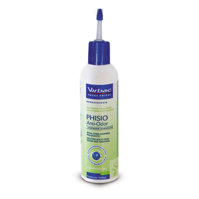 Limpador Auricular Phisio Anti -Odor - 100 mL  - Shoppinho Animal