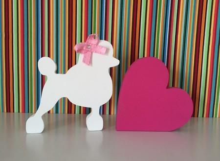 Miniatura pet + coração em MDF.  - Shoppinho Animal