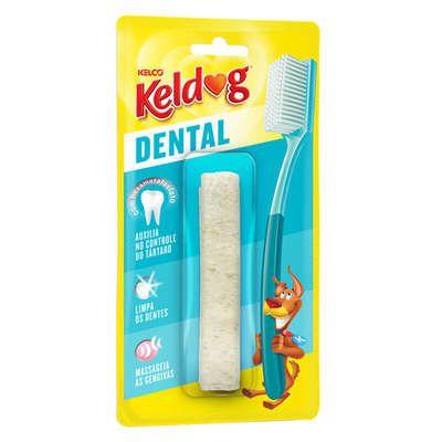 Osso Kelco Keldog Dental Canelinha - 40 g  - Shoppinho Animal