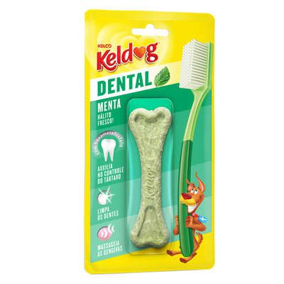 Osso Kelco Keldog Dental Menta - 40 g  - Shoppinho Animal