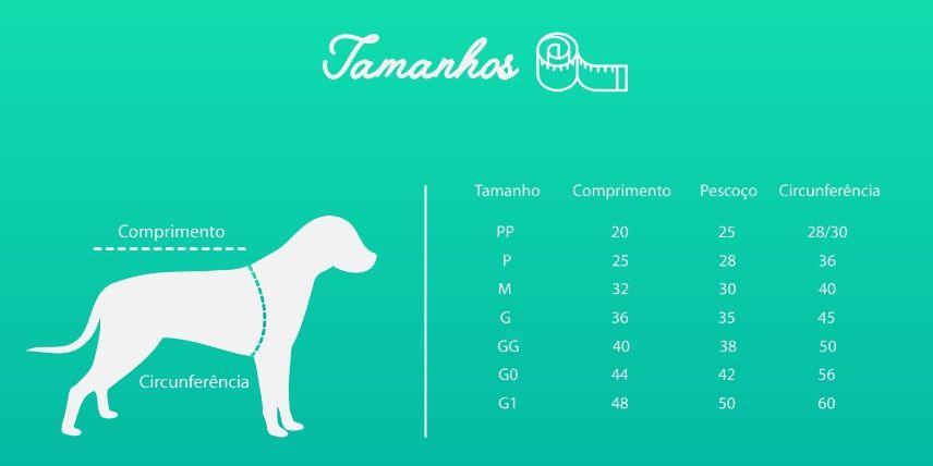 PEITORAL DE COURO AZUL  - Shoppinho Animal
