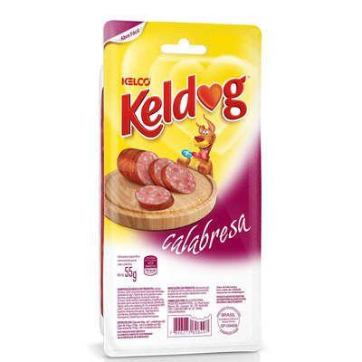 Petisco Kelco Keldog de Calabresa para Cães