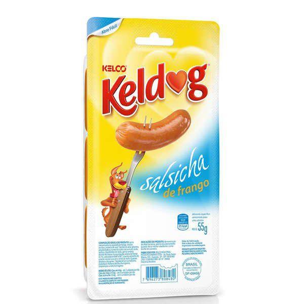 Petisco Kelco Keldog Salsicha de Frango para Cães