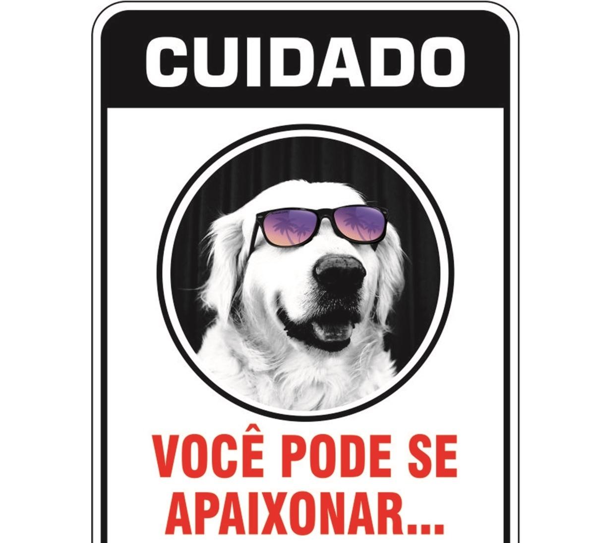 PLACA DE SINALIZAÇÃO- GOLDEN  - Shoppinho Animal