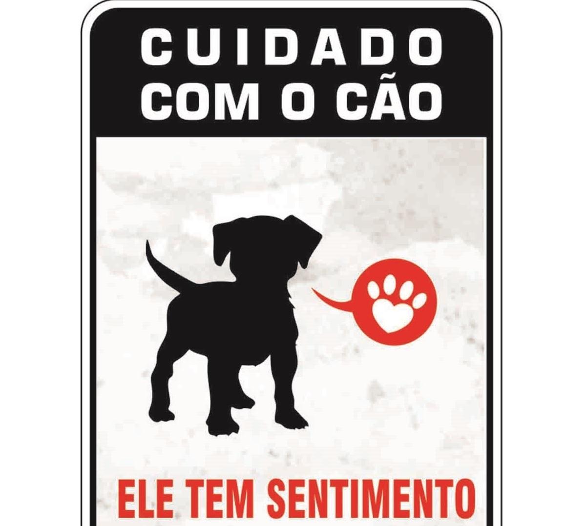 PLACA DE SINALIZAÇÃO- SENTIMENTOS  - Shoppinho Animal