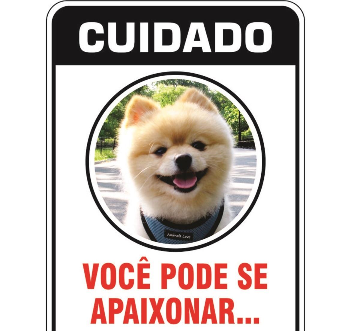 PLACA DE SINALIZAÇÃO- SPITZ  - Shoppinho Animal