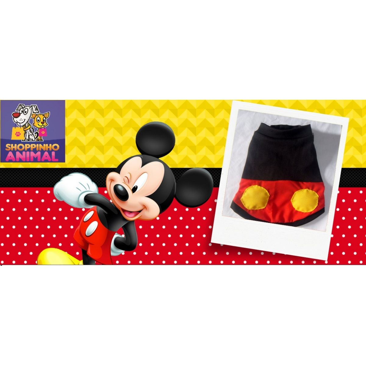 Roupa Mickey (FANTASIA)  - Shoppinho Animal